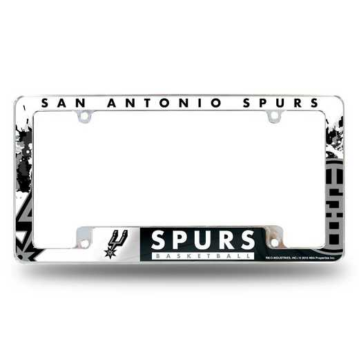 AFC91001B: SPURS ALL OVER CHROME FRAME