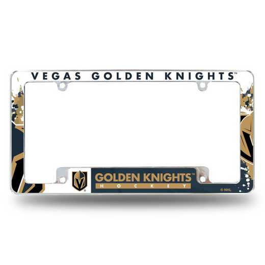 AFC9901B: GOLDEN KNIGHTS ALL OVER CHROME FRAME