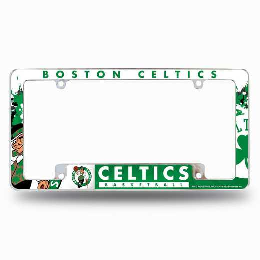 AFC74001T: CELTICS ALL OVER CHROME FRAME