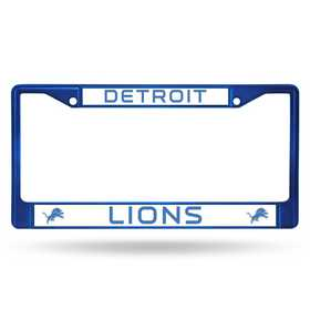 FCC2406BL: NFL FCC Chrome Frame (Colored) Lions