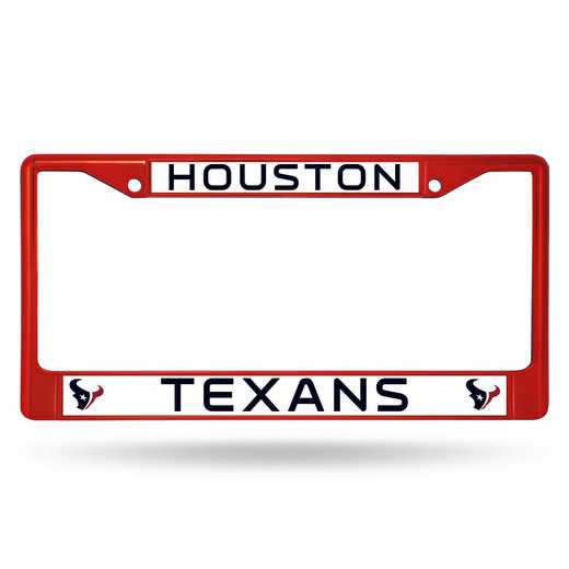 FCC0603RD: NFL FCC Chrome Frame (Colored) Texans