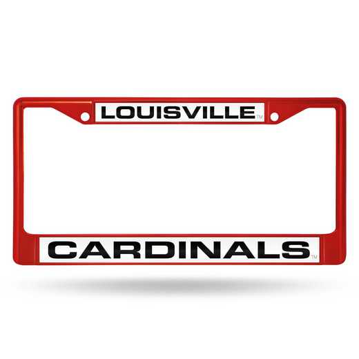 FNFCCL190003RD: NCAA FCCL Lsr Color ChromeFrm Louisville