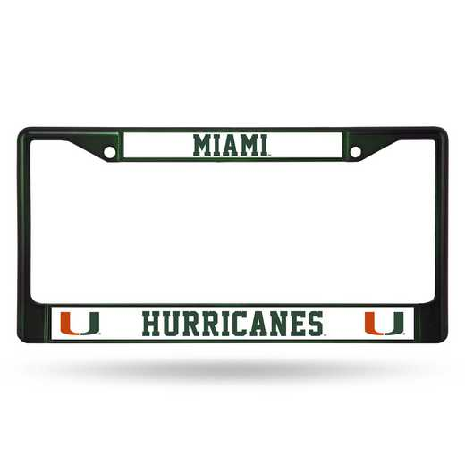 FCC100302DG: NCAA FCC Chrome Frame (Colored) Miami