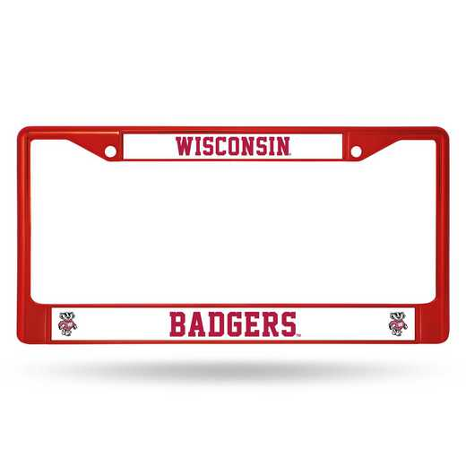 FCC450103RD: NCAA FCC Chrome Frame Colored Wisconsin