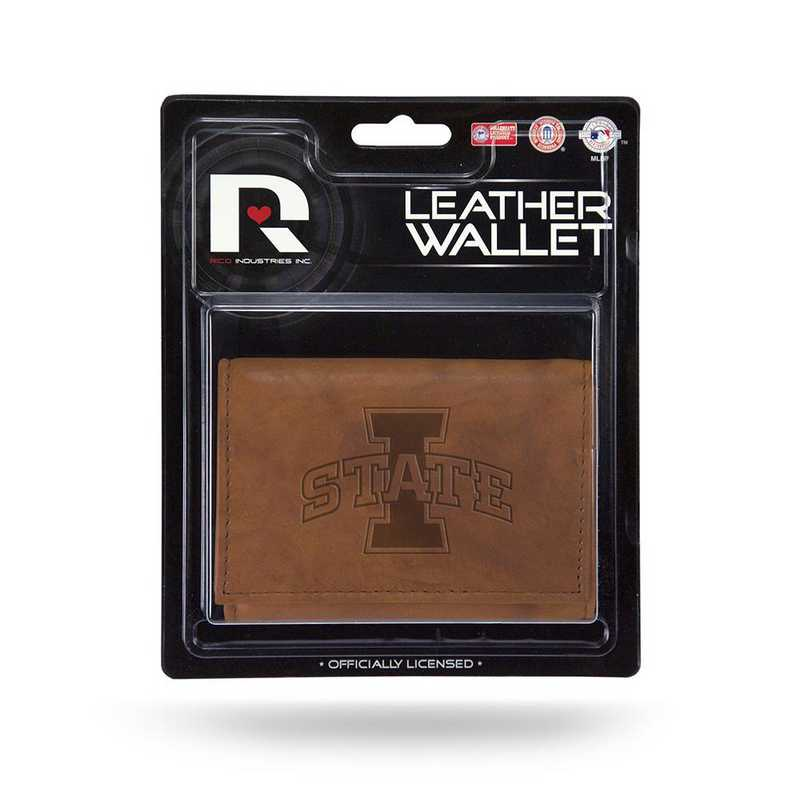 MTR250201: IOWA STATE LEATHER/MANMADE TRIFOLD