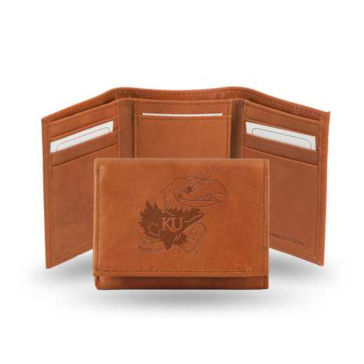 STR310101: NCAA STR Trifold Wallet, Kansas