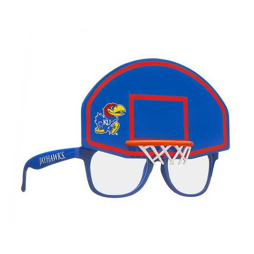 SUN310101BK: KANSAS BASKETBALL NOVELTY SUNGLASSES