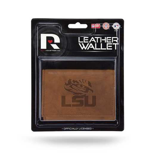 MTR170102: LSU LEATHER/MANMADE TRIFOLD