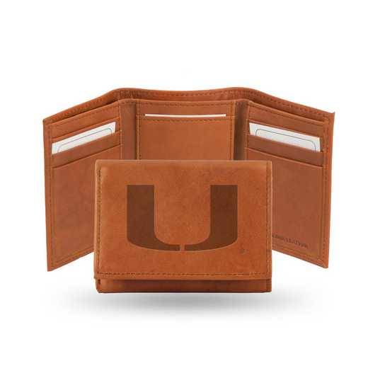 STR100301: NCAA STR Trifold Wallet, Miami