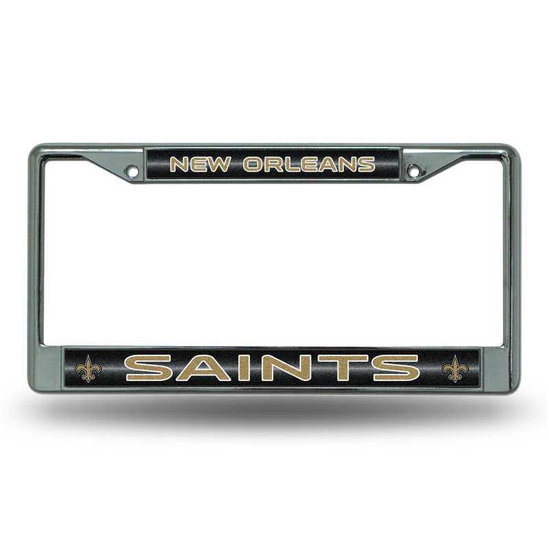 New Orleans Saints NFL Chrome License Plate Frame