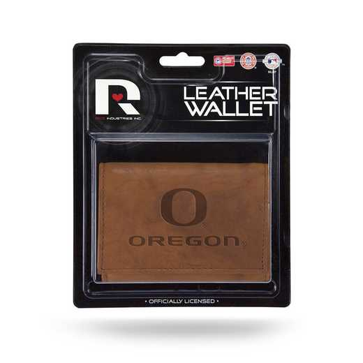 MTR510106: UNIVERSITY/OREGON LEATHER TRIFOLD