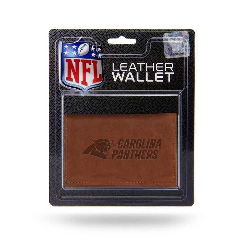 MTR0805: CAROLINA PANTHERS LTHR/MANMADE TRIFOLD
