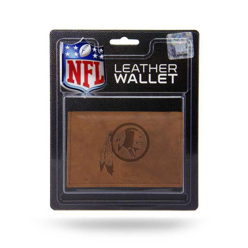 MTR1006: WASHINGTON REDSKINS PRIMARY LOGO LTHR/MANMADE TRIFOLD