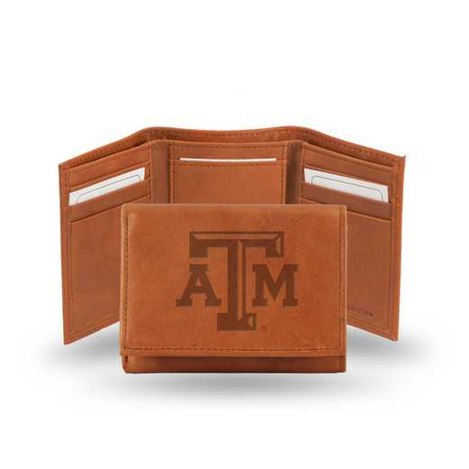 STR260206: NCAA STR Trifold Wallet, Texas A&M
