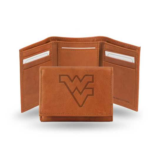 STR280102: NCAA STR Trifold Wallet, West Virginia