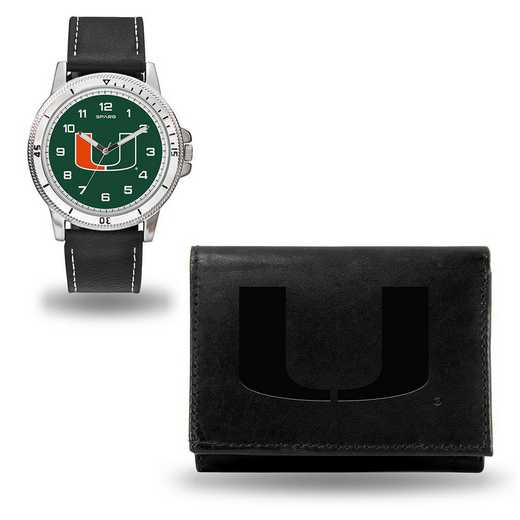 WTWAWA100301: MIAMI BLACK WATCH AND WALLET