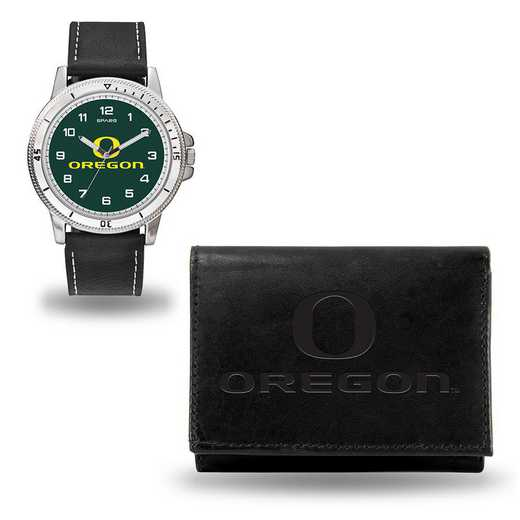 WTWAWA510102: OREGON BLACK WATCH AND WALLET