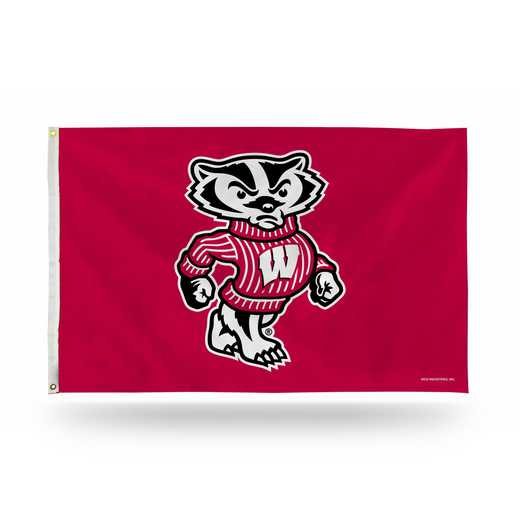 FGB450104: NCAA FGB BANNER FLAG, Wisconsin