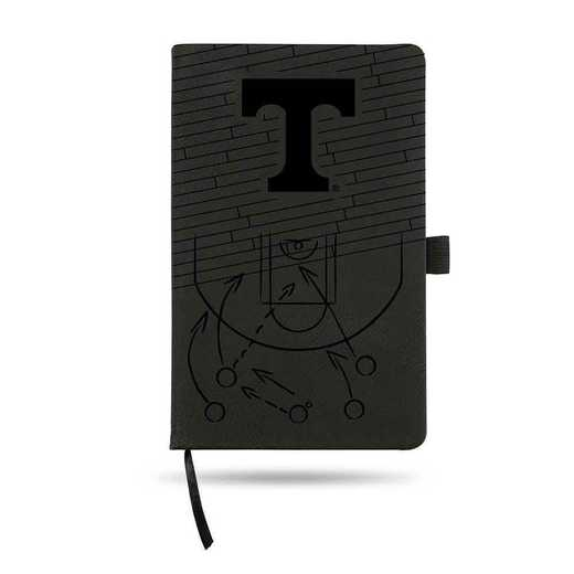 LESPD180101BK-B: TENNESSEE UNIVERSITY BASKETBALL LASER ENGRAVED BLACK NOTEPAD
