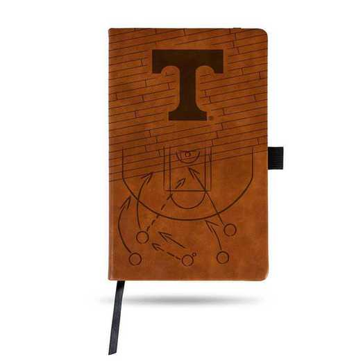 LESPD180101BR-B: TENNESSEE UNIVERSITY BASKETBALL LASER ENGRAVED BROWN NOTEPAD