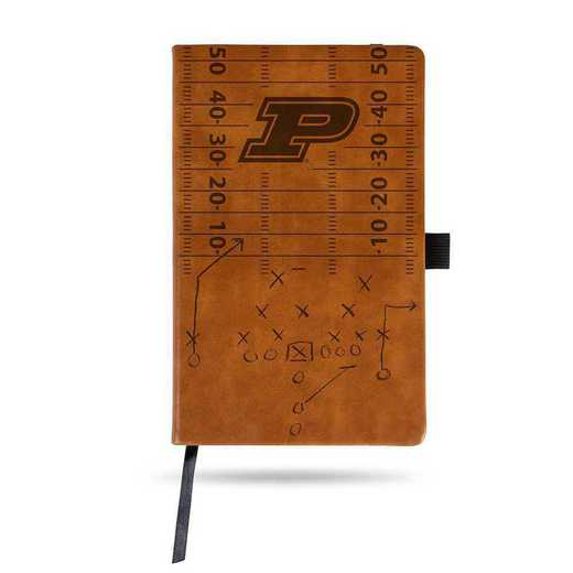 LESPD200201BR: PURDUE LASER ENGRAVED BROWN NOTEPAD