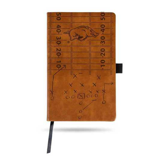 LESPD360101BR: ARKANSAS UNIVERSITY LASER ENGRAVED BROWN NOTEPAD