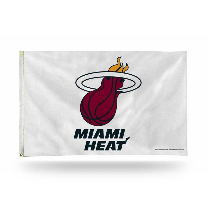 FGB77004: RICO MIAMI HEAT WHITE BANNER FLAG