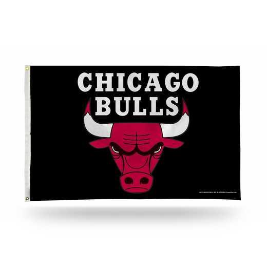 FGB72003: RICO CHICAGO BULLS 3 X 5 BANNER FLAG