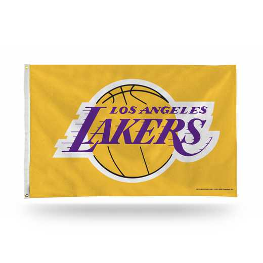 FGB82004: RICO LOS ANGELES LAKERS BANNER FLAG (YELLOW)