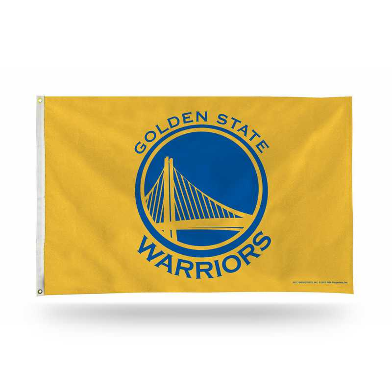 FGB96004: RICO GOLDEN ST WARRIORS BANNER FLAG - YELLOW BACKGROUND
