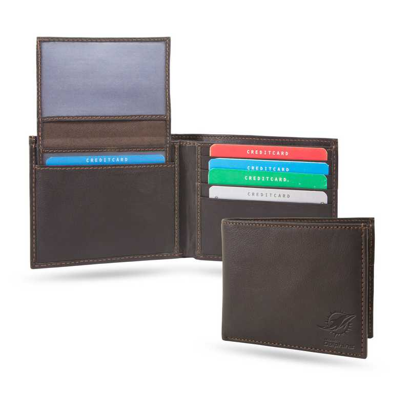 SHB1105: DOLPHINS SPARO SHIELD BILLFOLD