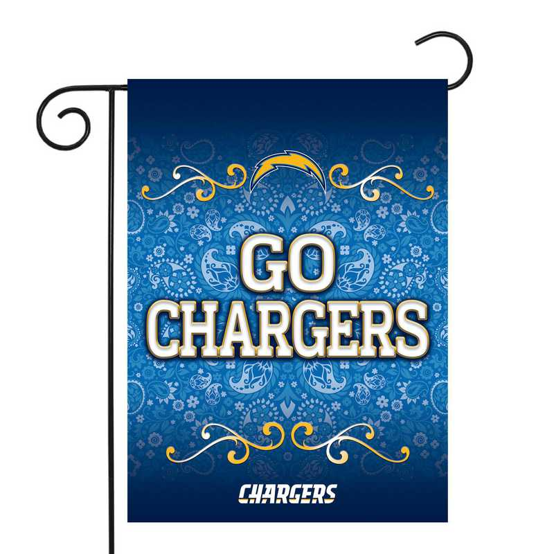 GF3401-P: RICO Chargers GARDEN FLAG W/POLE