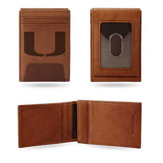 FPW100301: MIAMI UNIVERSITY PREMIUM LEATHER FRONT POCKET WALLET