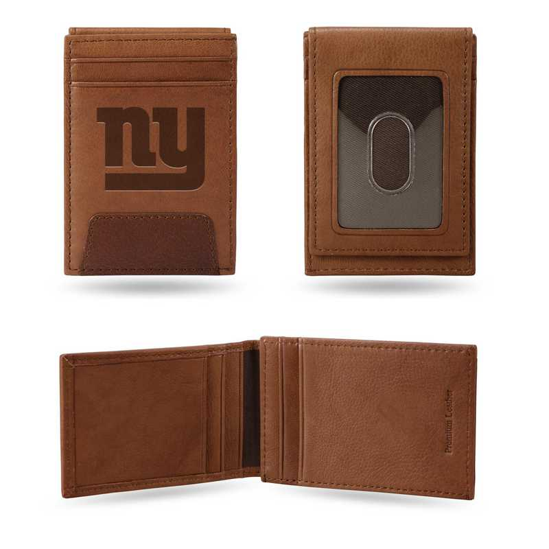 FPW1401: GIANTS - NY PREMIUM LEATHER FRONT POCKET WALLET