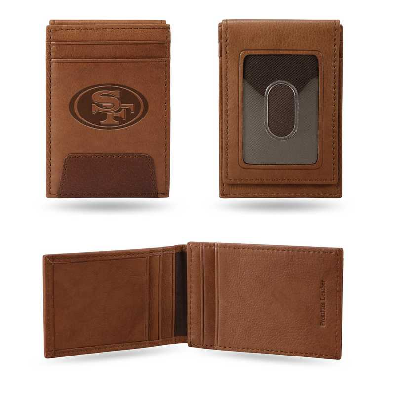 FPW1901: 49ERS PREMIUM LEATHER FRONT POCKET WALLET
