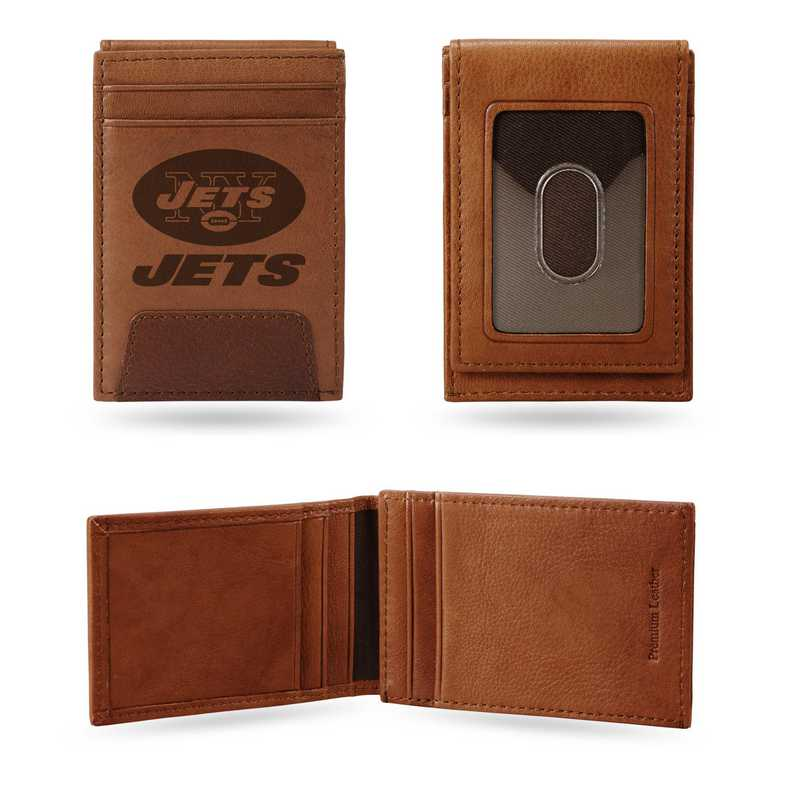 FPW2201: JETS PREMIUM LEATHER FRONT POCKET WALLET