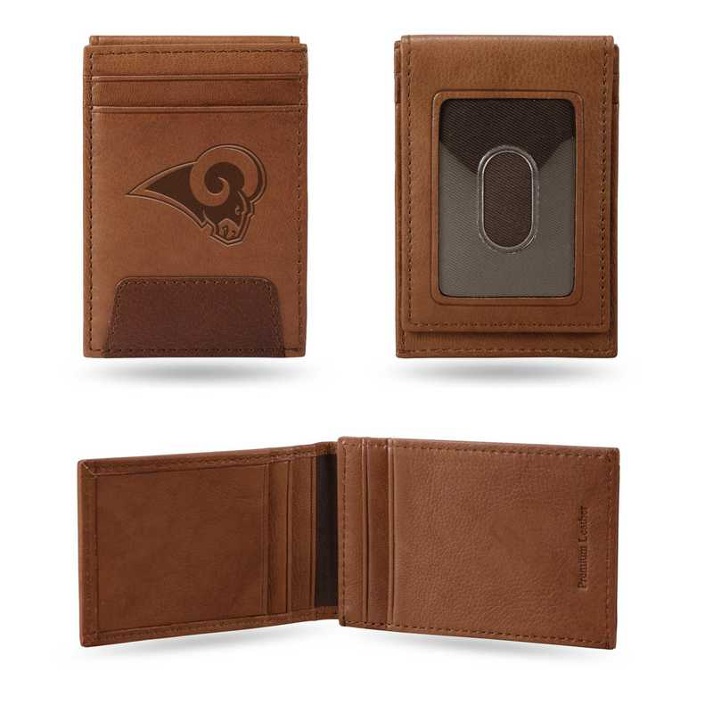 FPW3001: RAMS PREMIUM LEATHER FRONT POCKET WALLET
