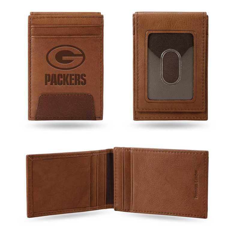 FPW3301: PACKERS PREMIUM LEATHER FRONT POCKET WALLET