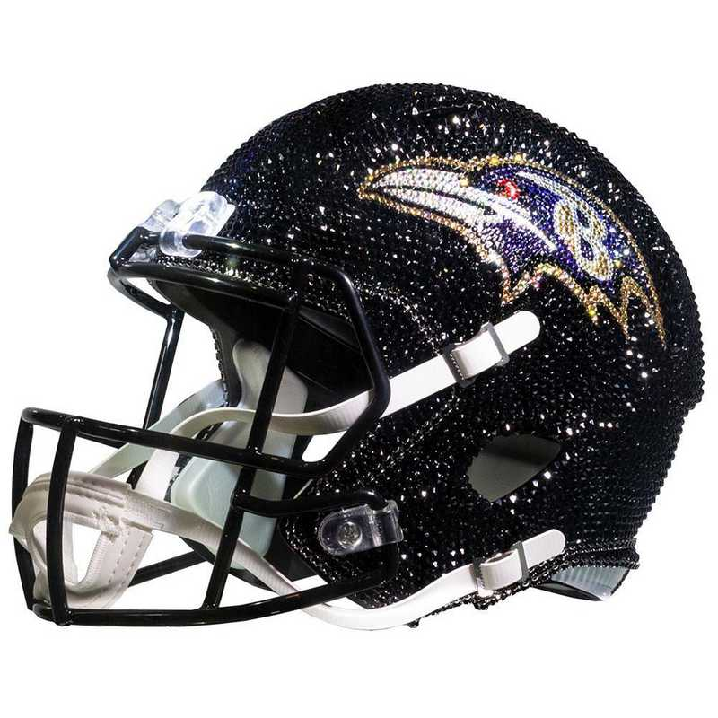 Baltimore Ravens Swarovski Crystal Adorned Full Helmet By Rock On Sports