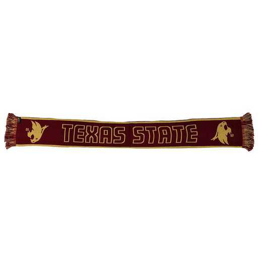 NCAA-TEX-TWO: TEXAS STATE BOBCATS - TWO TONE SCARF