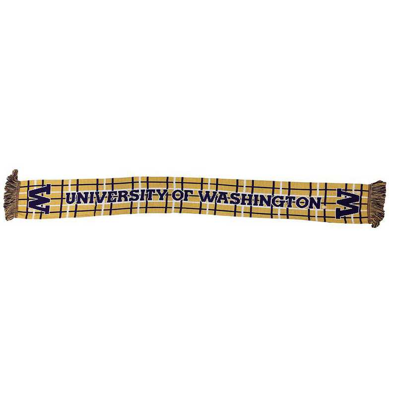 NCAA-UWH-TAR: UW HUSKIES  TARTAN SCARF