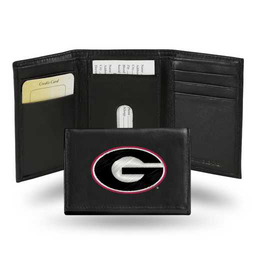 RTR110102: NCAA RTR Trifold Wallet, Georgia