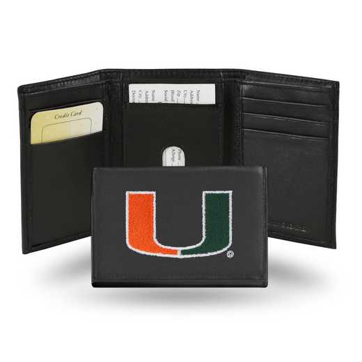 RTR100301: NCAA RTR Trifold Wallet, Miami