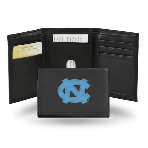 RTR130102: NCAA RTR Trifold Wallet, N Carolina