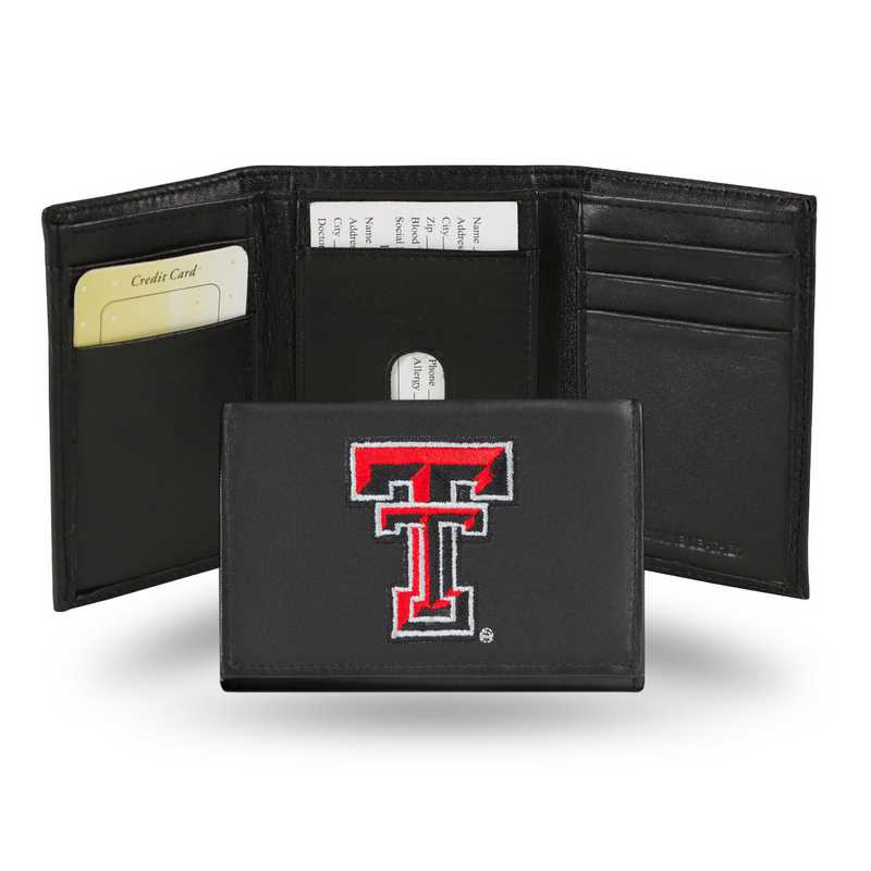 RTR260801: NCAA RTR Trifold Wallet, Texas Tech