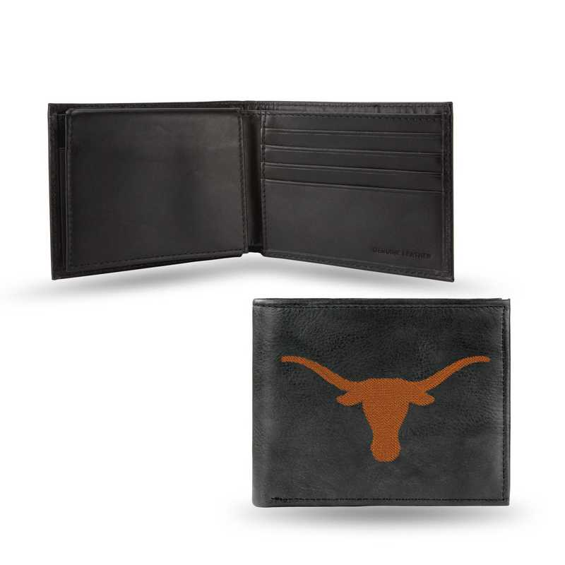 Texas Longhorns NCAA Rico Industries Laser Engraved Trifold Wallet