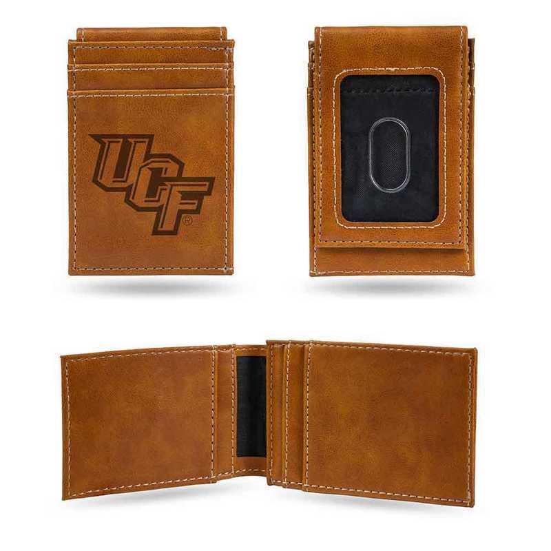 LEFPW100501BR: Central Florida Laser Engraved Brown Front Pocket Wallet