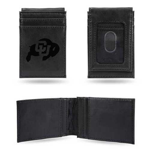 LEFPW500101BK: Colorado Laser Engraved Black Front Pocket Wallet