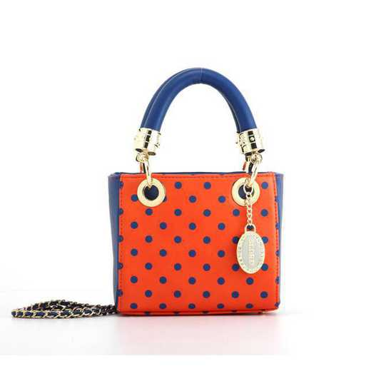 H150330-12-OR-NBLU: Jacqui Small Satchel OR-NBLU