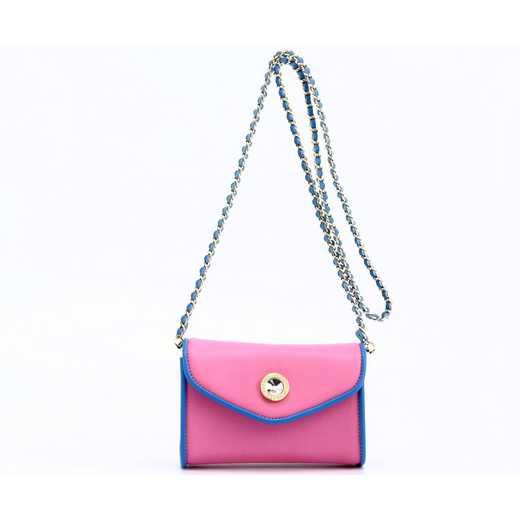 H150330-11-APK-FRBLU: Eva Clutch Handbag  APK/FRBLU